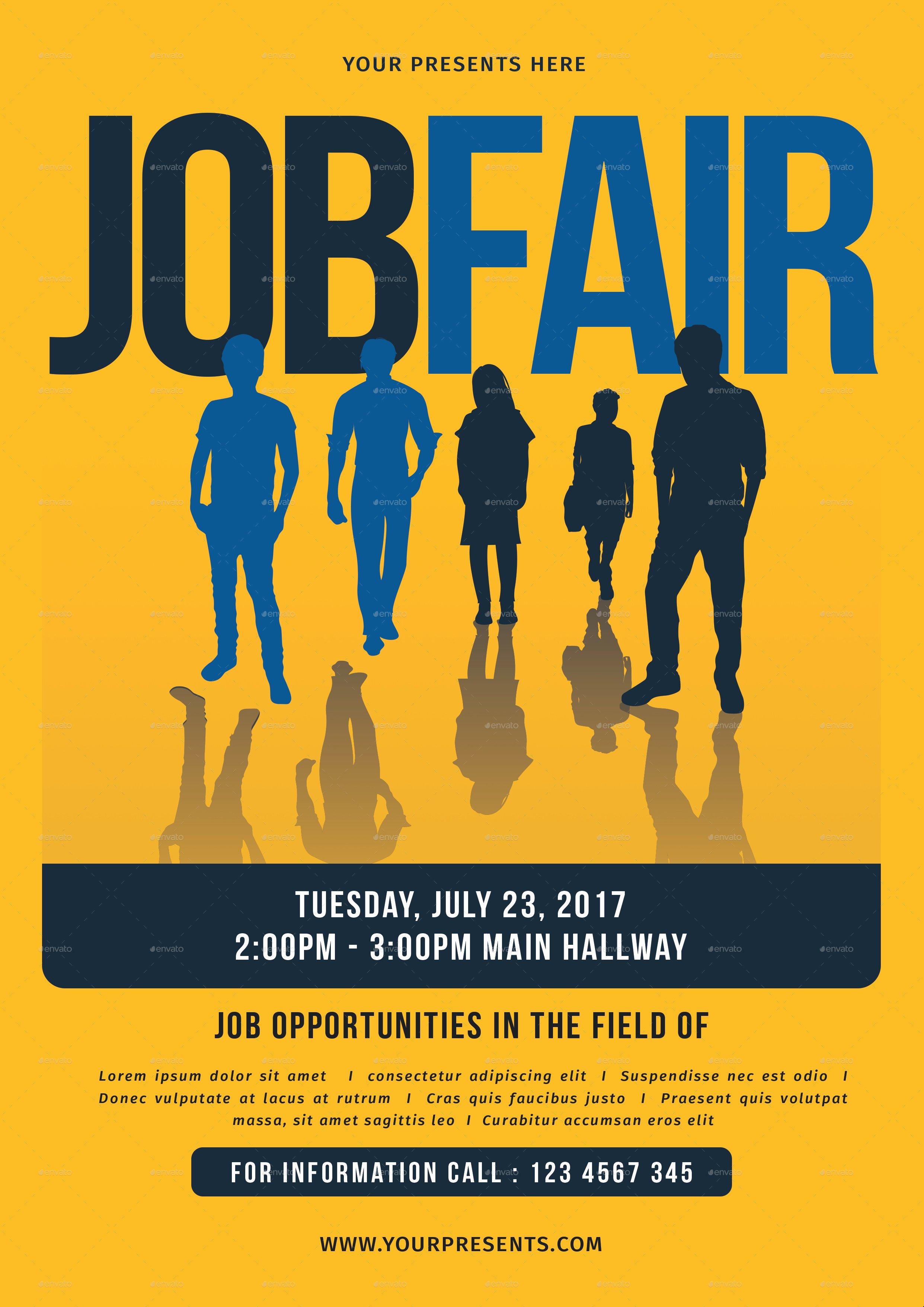 Job Fair Flyer Template Elegant Job Fair Flyer by Lilynthesweetpea