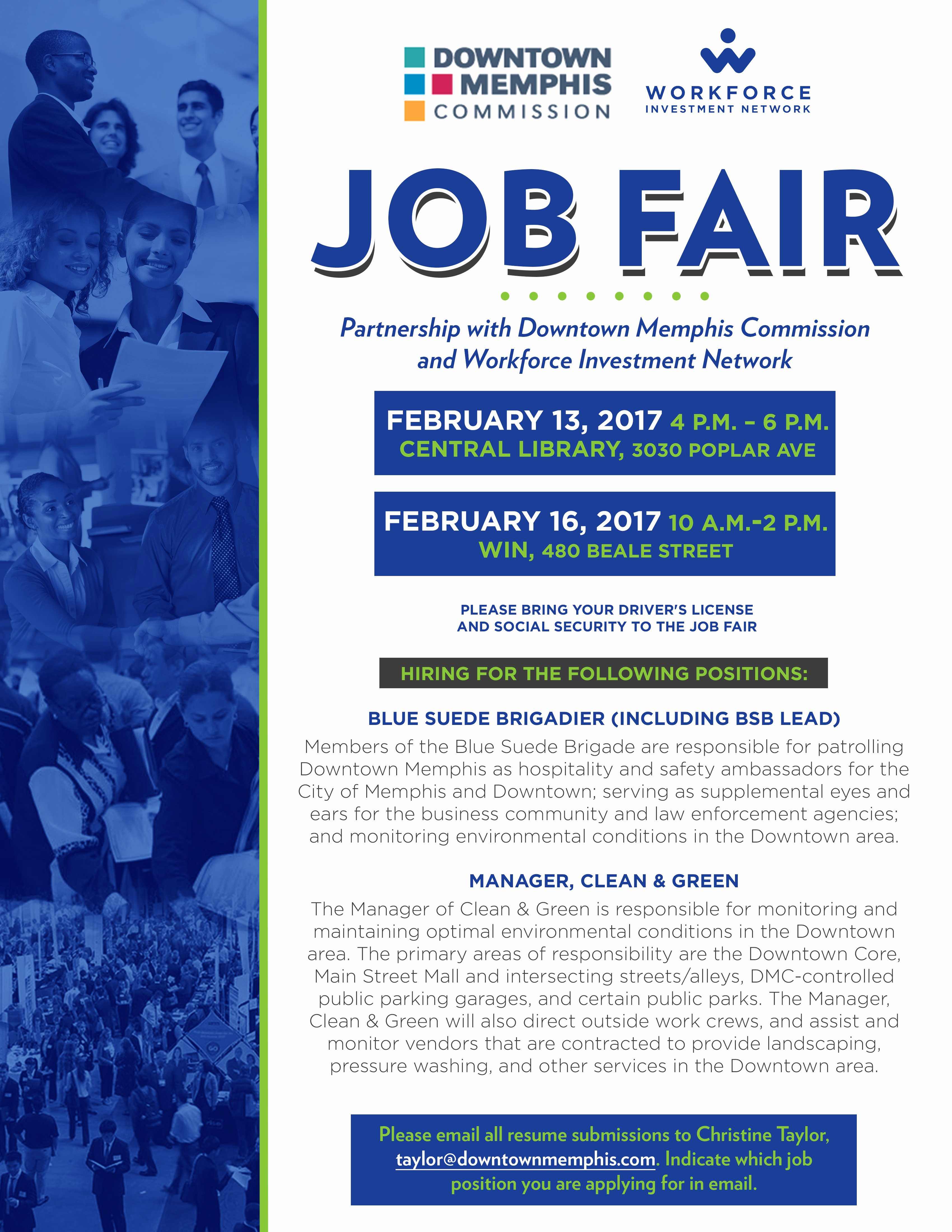 Job Fair Flyer Template Elegant Job Fair Hosted by Downtown Memphis Mission and