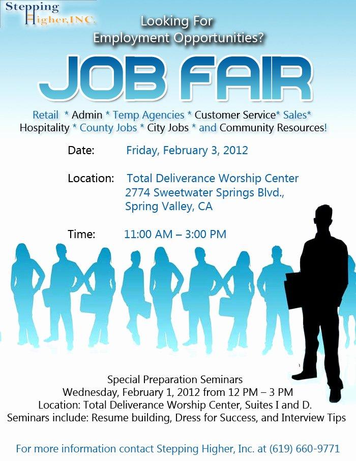 Job Fair Flyer Template Fresh Stepping Higher Job Fair St Stephen S Cathedral Church