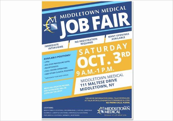 Job Fair Flyer Template Inspirational 13 Job Fair Flyers Word Psd Ai Indesign