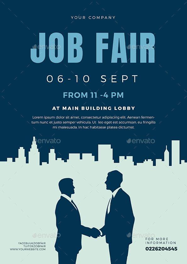 Job Fair Flyer Template Inspirational Job Fair Flyer Template 02 by Vector Vactory