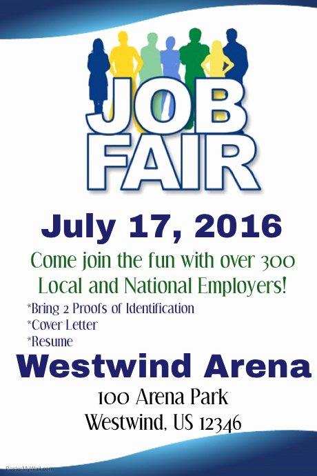 Job Fair Flyer Template Inspirational Job Fair Flyer Template