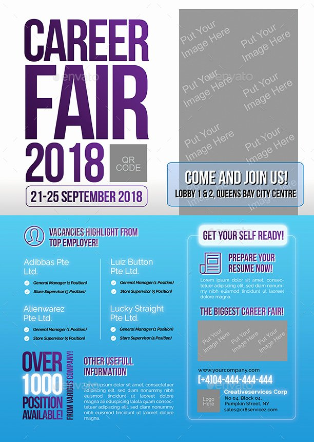 Job Fair Flyer Template Lovely Career Fair Flyer by Shamcanggih