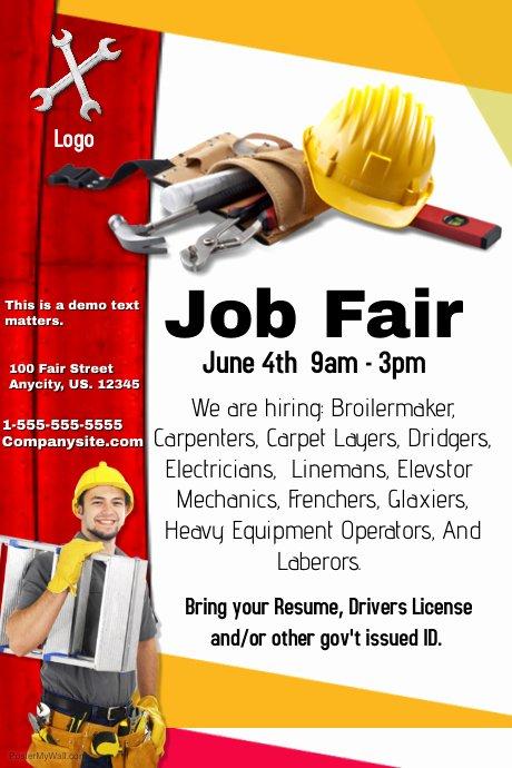 Job Fair Flyer Template Lovely Job Fair Flyer Template