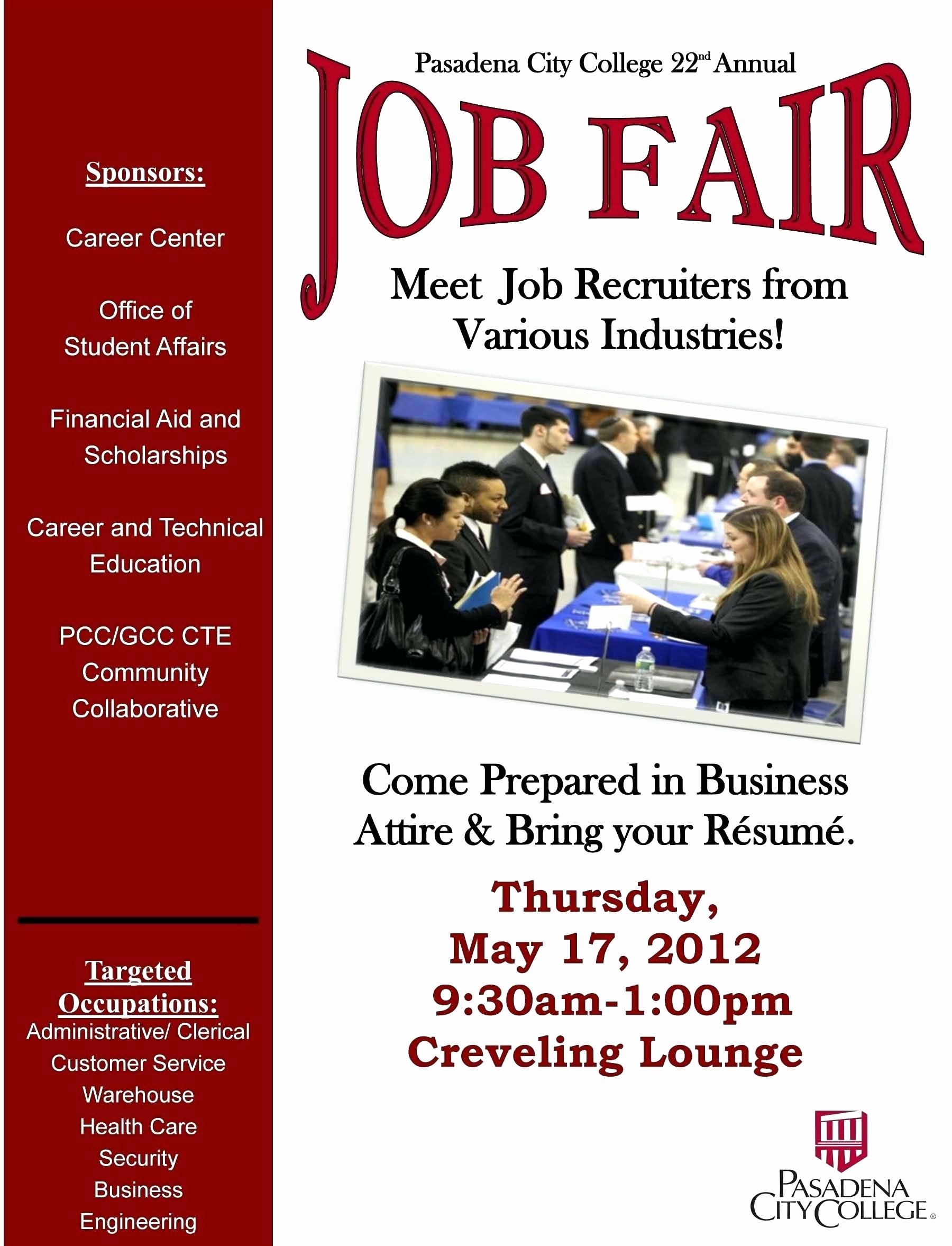 Job Fair Flyer Template Lovely Sample Job Fair Flyers