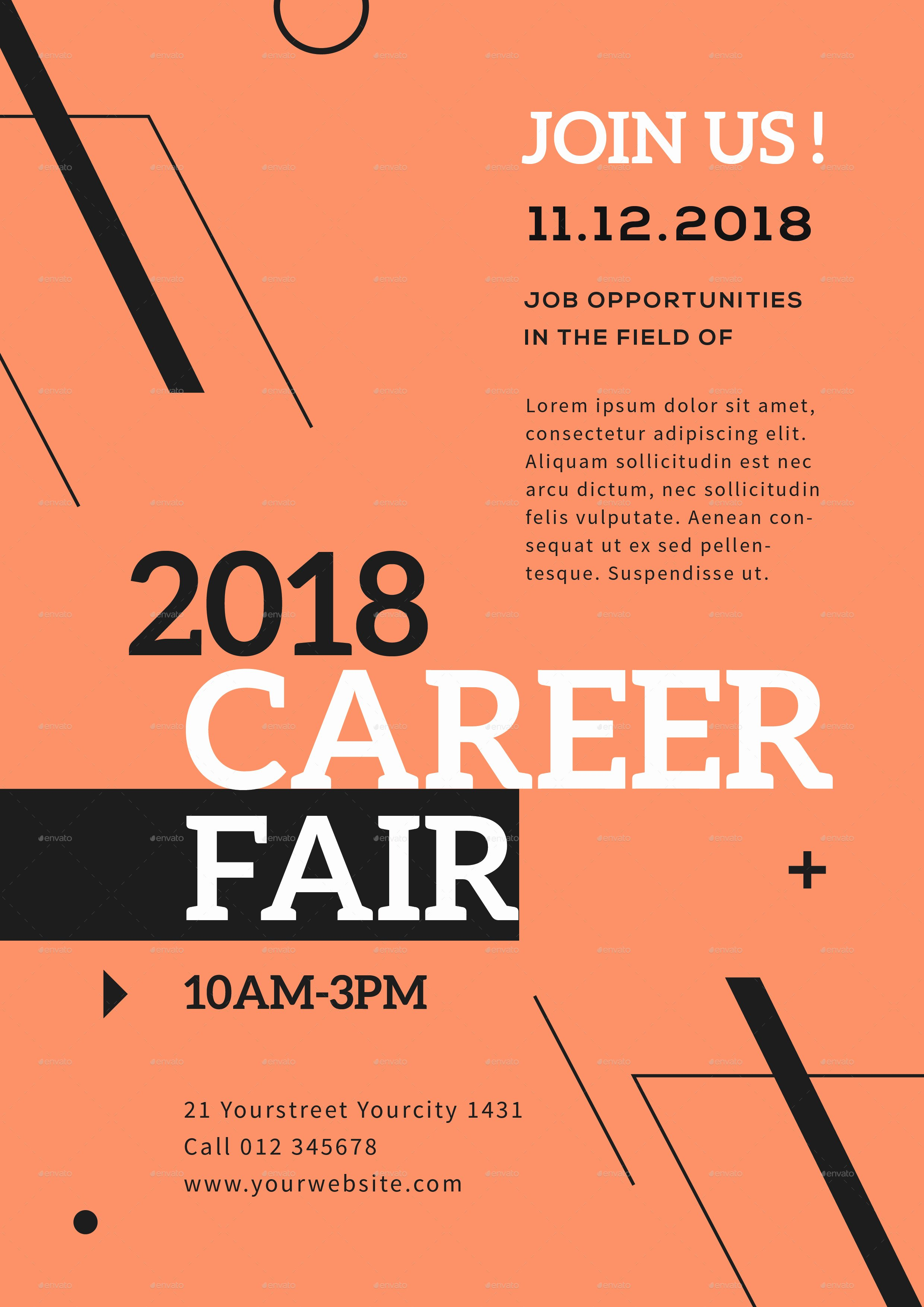 Job Fair Flyer Template Luxury Career Fair Flyer by Infinite