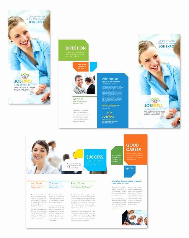Job Fair Flyer Template New Career Fair Tri Fold Brochure Template