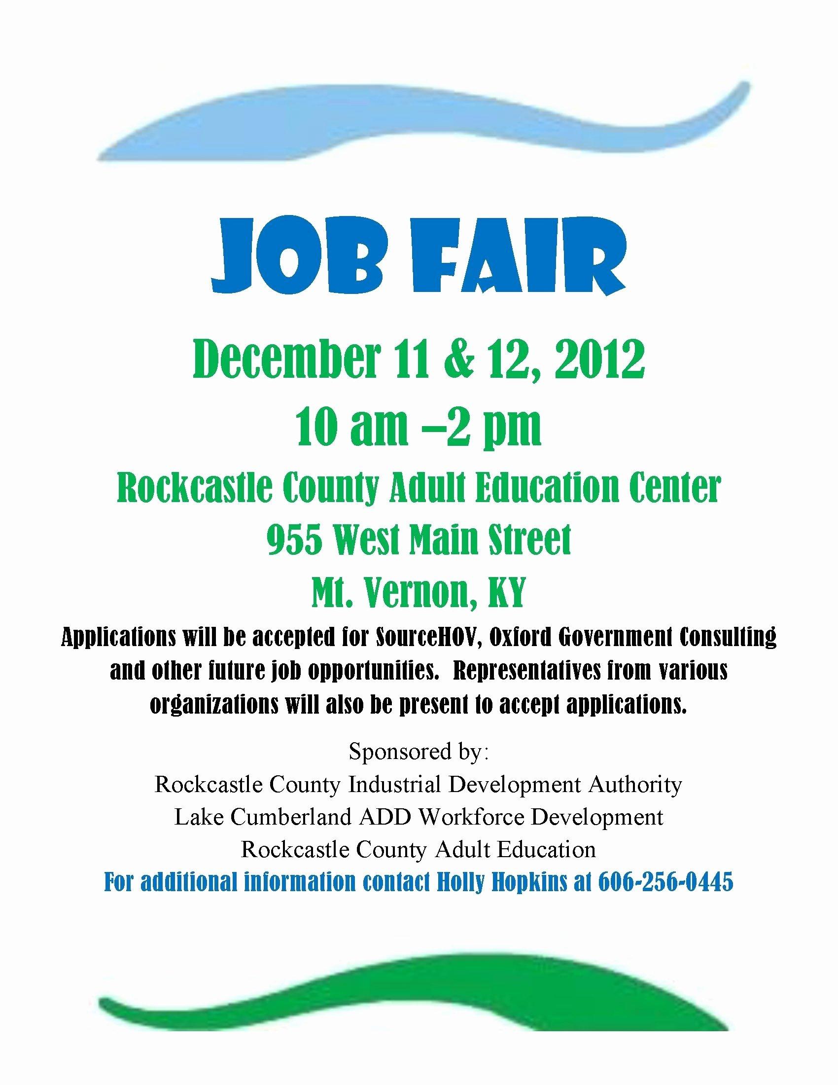 Job Fair Flyer Template New Sample Job Fair Flyers