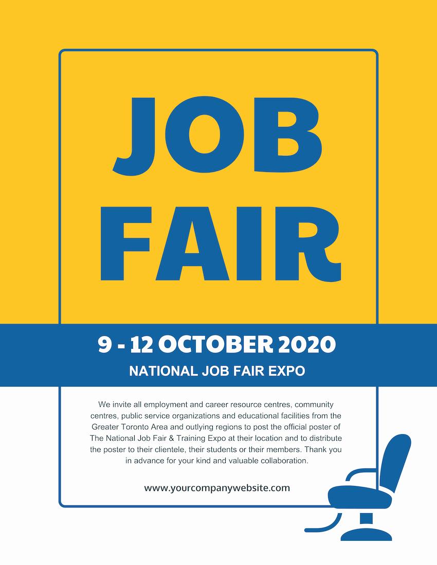 Job Fair Flyer Template Unique Job Fair Flyer Template Venngage