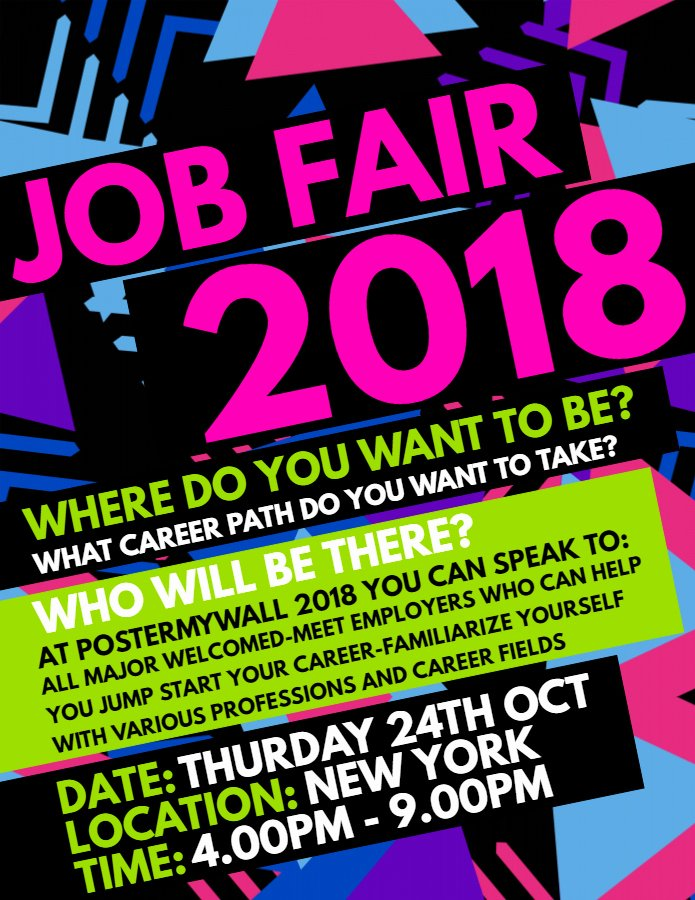 Job Fair Flyer Template Unique Using Shapes In Designing