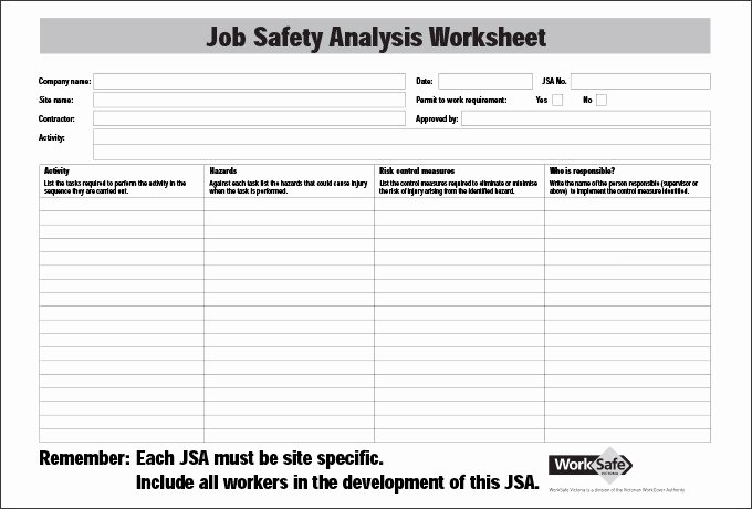 Job Hazard Analysis Template Luxury Job Safety Analysis Template 6 Free Word Pdf Documents