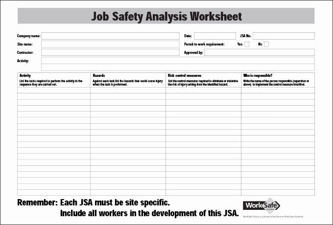 Job Hazard Analysis Template Luxury Job Safety Analysis Template 6 Free Word Pdf Documents