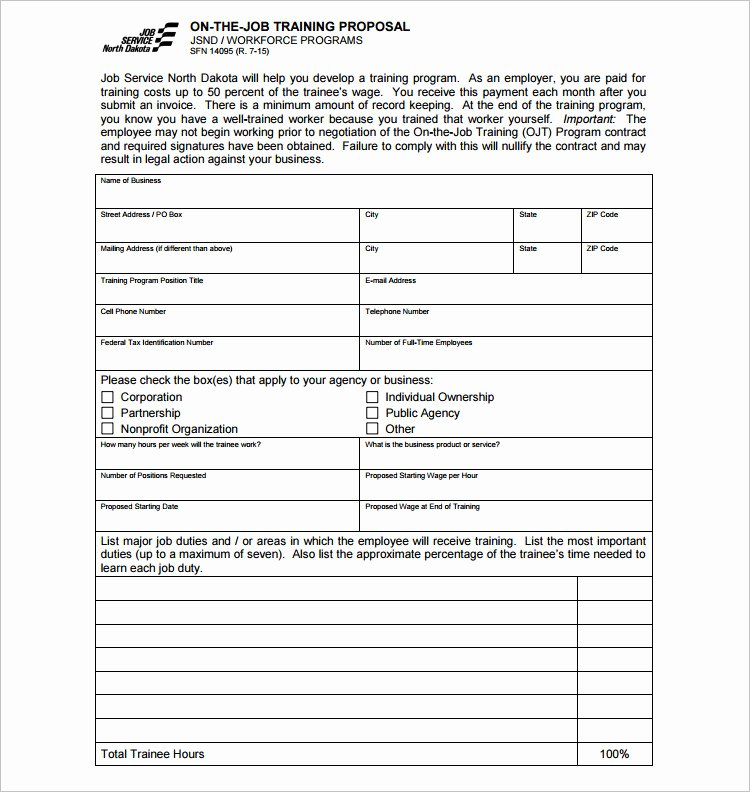 Job Position Proposal Template Best Of 20 Job Proposal Templates Free Word Doc Excel