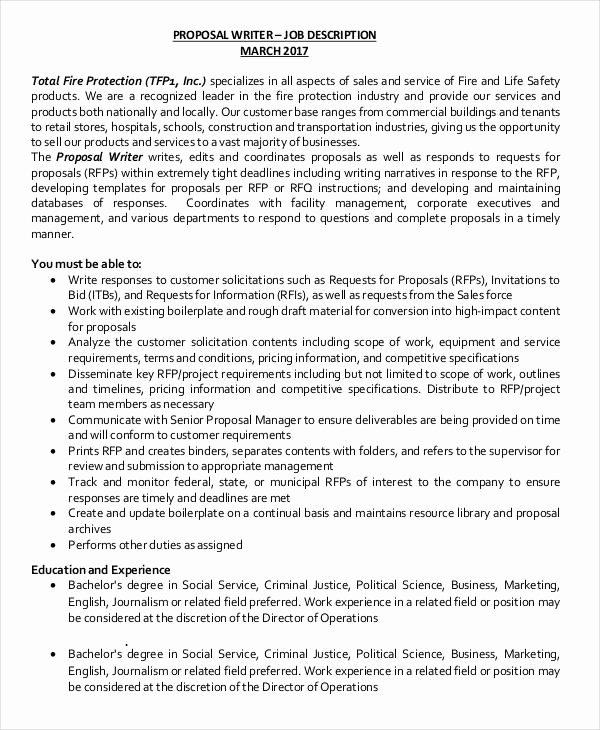 Job Position Proposal Template Elegant Job Proposal Template 18 Free Word Pdf Document