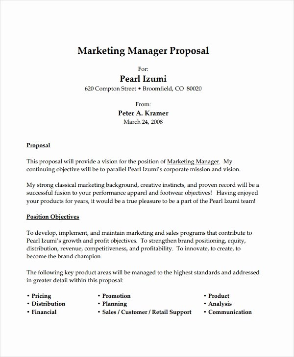 Job Position Proposal Template Lovely 10 Job Proposal Examples Pdf Doc