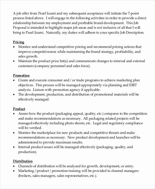 Job Position Proposal Template Lovely 5 Job Proposal Samples
