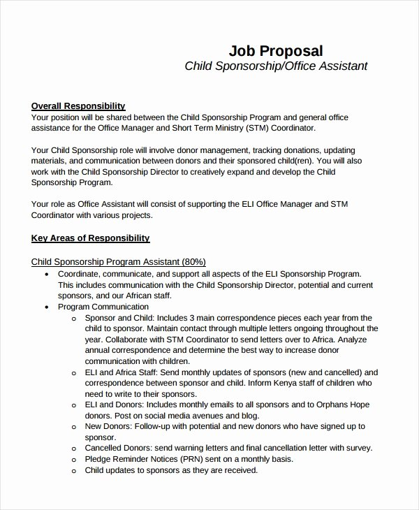 Job Position Proposal Template New 10 Job Proposal Examples Pdf Doc