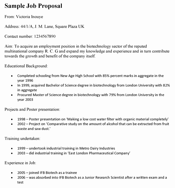 Job Position Proposal Template New 9 Best Of Job Proposal Template New Job Position