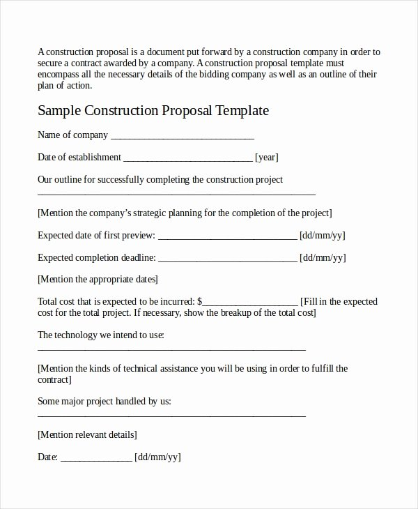Job Position Proposal Template Unique Job Proposal Template 18 Free Word Pdf Document