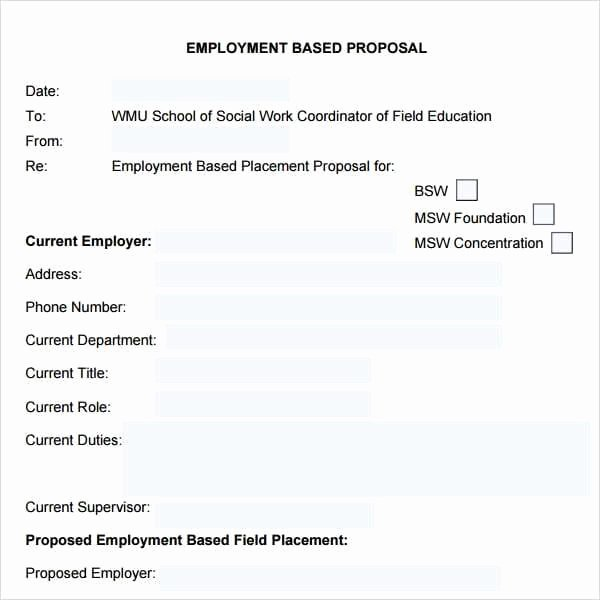 Job Proposal Template Pdf Elegant 5 Job Proposal Templates Word Excel Pdf formats