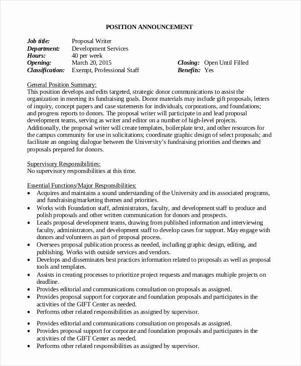 Job Proposal Template Pdf Fresh Job Proposal Templates 10 Free Sample Word Pdf