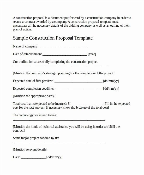 Job Proposal Template Pdf Inspirational Job Proposal Template 18 Free Word Pdf Document