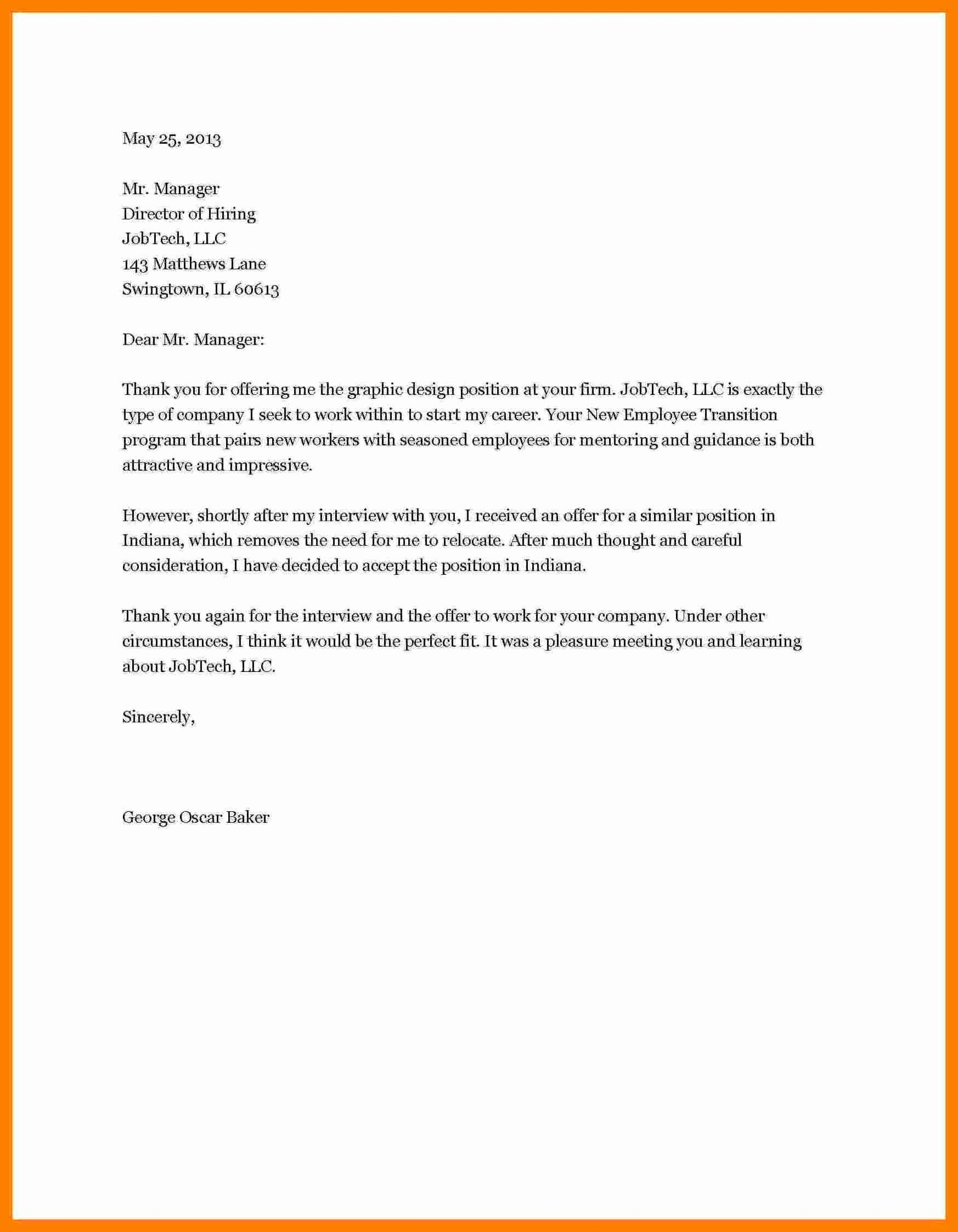 Job Rejection Email Template Fresh 7 How to Write A Job Rejection Letter