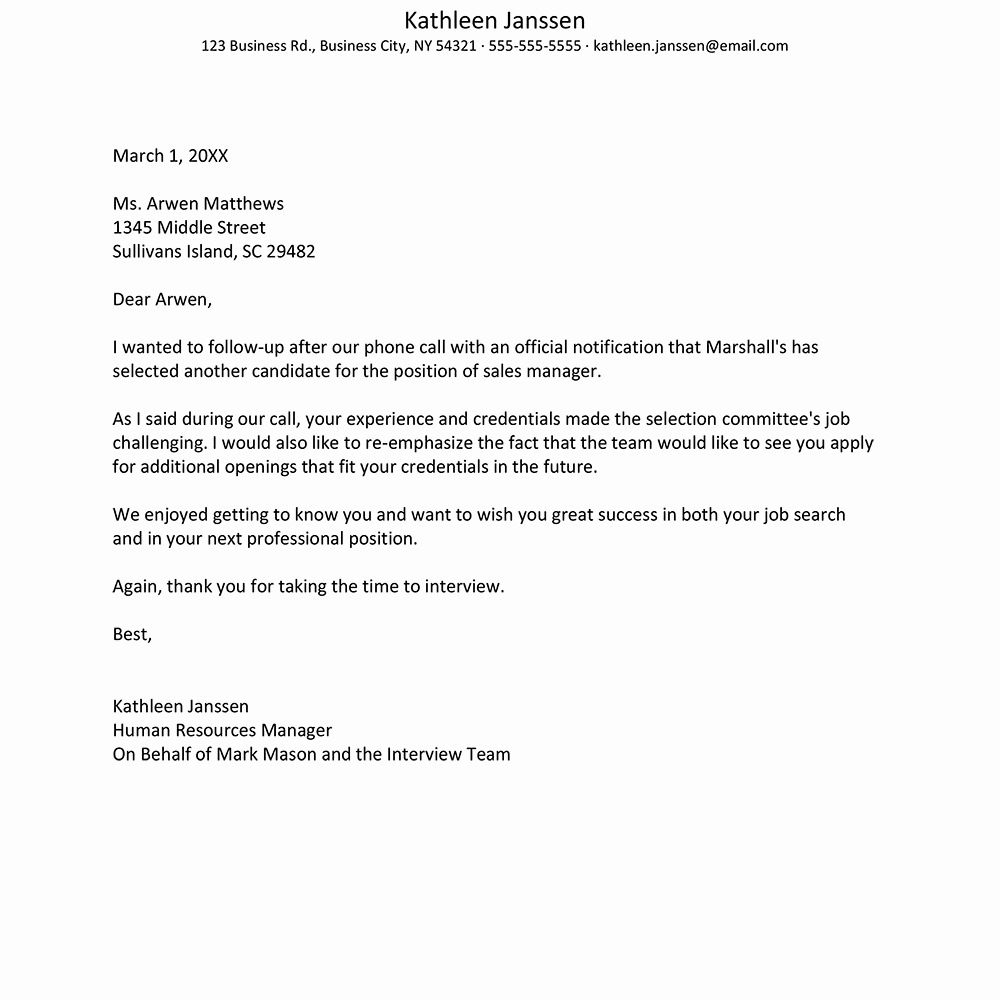 Job Rejection Email Template Lovely How to Reject A Job Applicant after A Second Interview