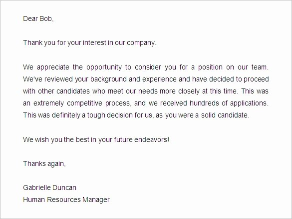 Job Rejection Email Template Unique 27 Rejection Letters Template Hr Templates