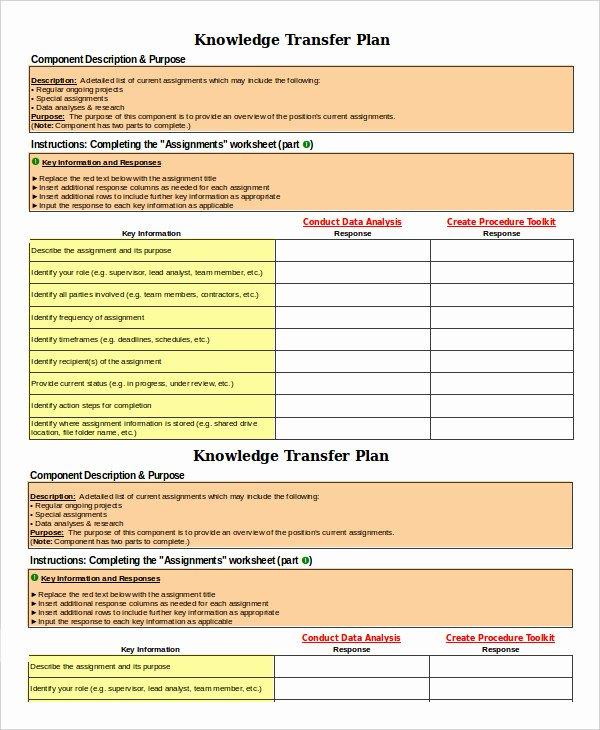 Job Transition Plan Template Best Of 7 Transition Plan Template Ai Psd Google Docs Apple