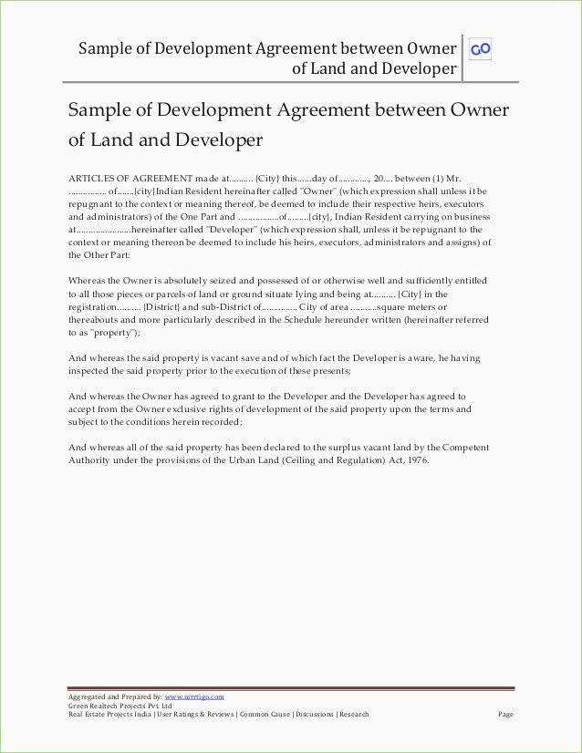Joint Development Agreement Template Inspirational Possession Letter format From Builder Download