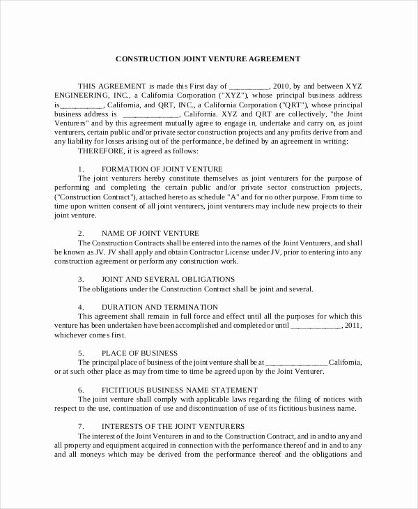 Joint Development Agreement Template Luxury Business Development Agreement Template