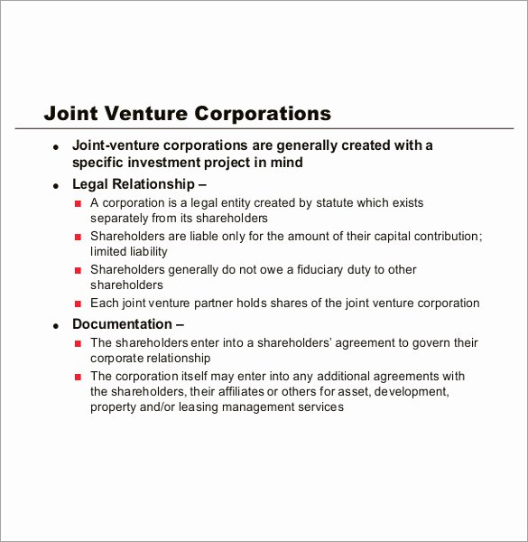 Joint Venture Agreement Template Fresh Partnership Agreement Template 12 Free Word Pdf