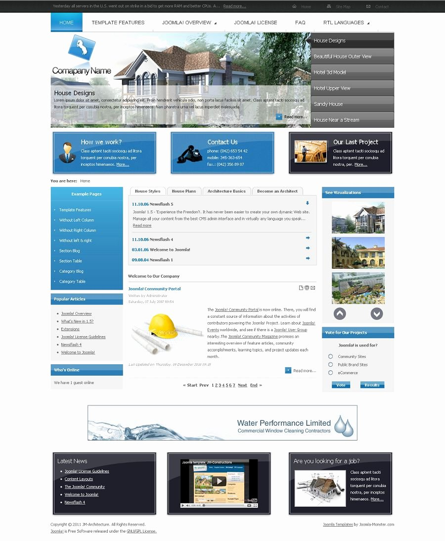 Joomla Real Estate Template Awesome Jm Architecture Premium Joomla Real Estate Template