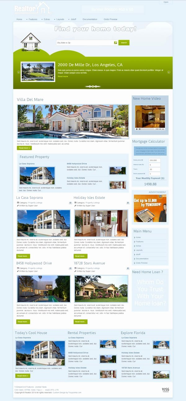 Joomla Real Estate Template Awesome Realtor Joomla Real Estate Template