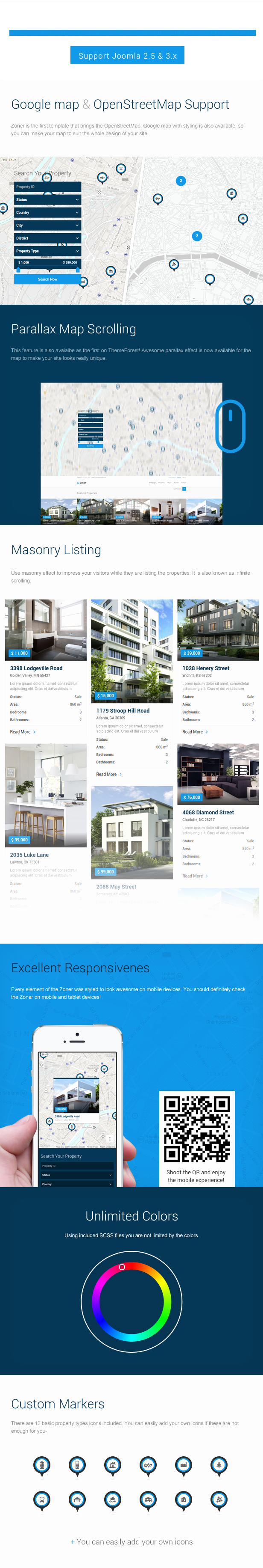 Joomla Real Estate Template Beautiful Zoner