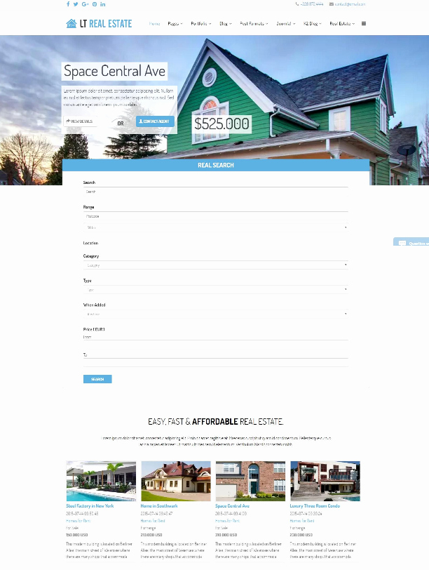 Joomla Real Estate Template Best Of 15 Free & Premium Joomla Real Estate Templates