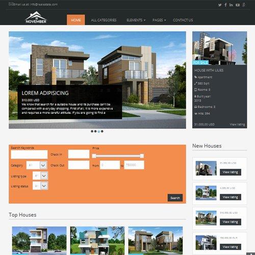 Joomla Real Estate Template Best Of Download Free November Joomla Real Estate Template