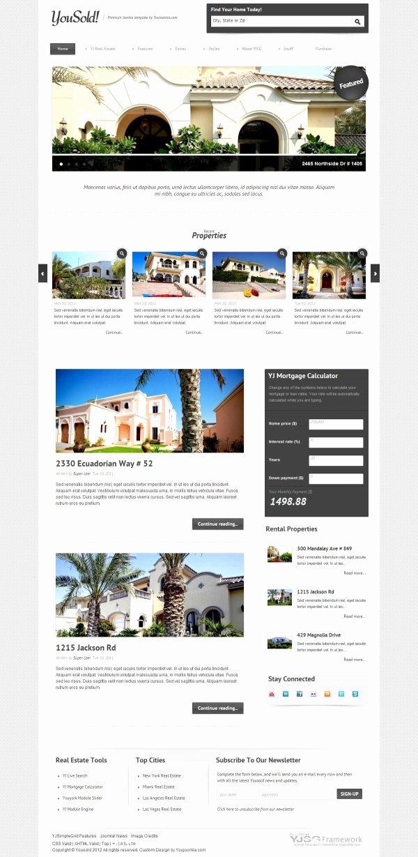 Joomla Real Estate Template Best Of Realestate Joomla Templates