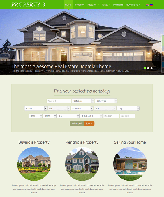 Joomla Real Estate Template Elegant 10 Of the Best Joomla Real Estate Templates – Down