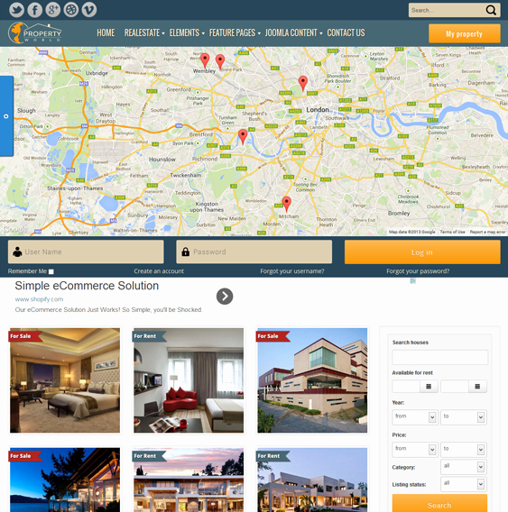 Joomla Real Estate Template Elegant 8 Of the Best Joomla Real Estate Templates – Down