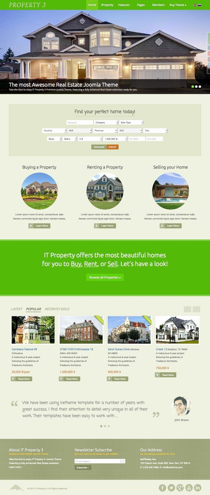 Joomla Real Estate Template Elegant It Property 3 Joomla Real Estate Template for Buy Rent & Sell