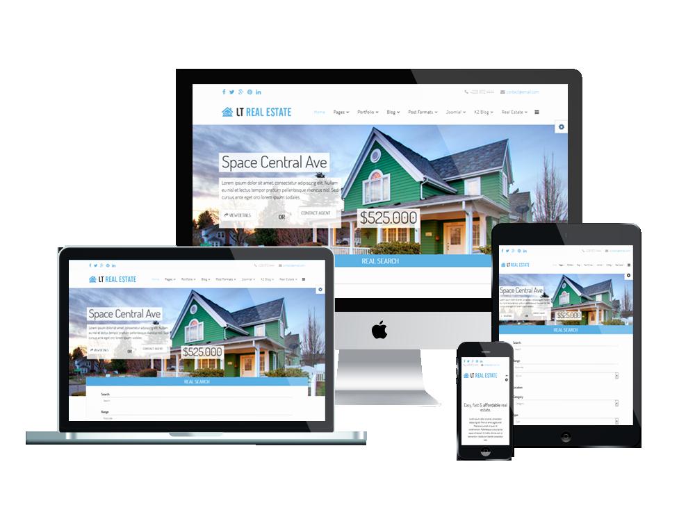 Joomla Real Estate Template Elegant Lt Real Estate Free Joomla Real Estate Template