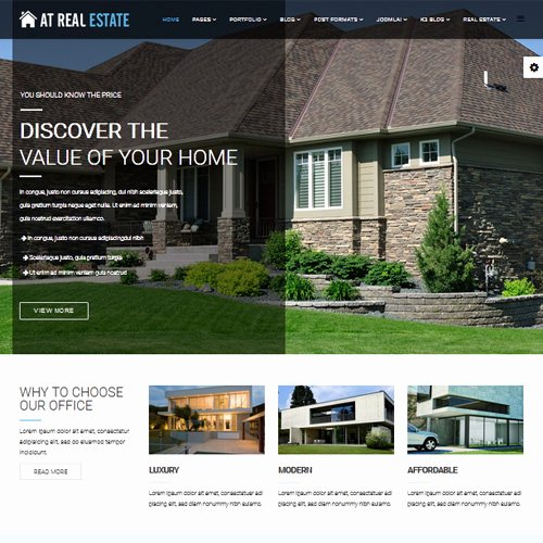 Joomla Real Estate Template Lovely Download Free at Real Estate Joomla Template