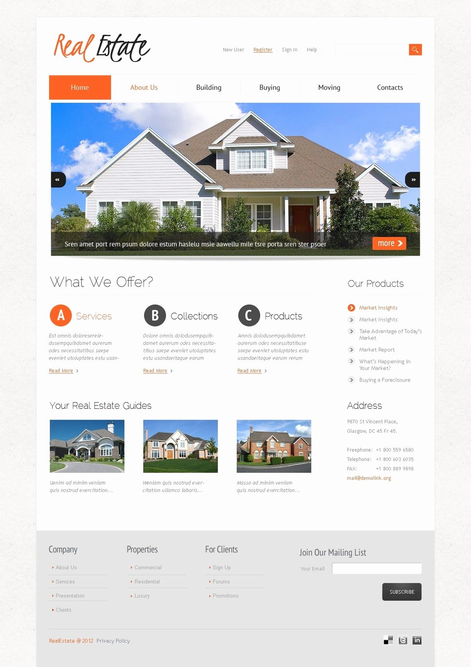 Joomla Real Estate Template Lovely Real Estate Joomla Template