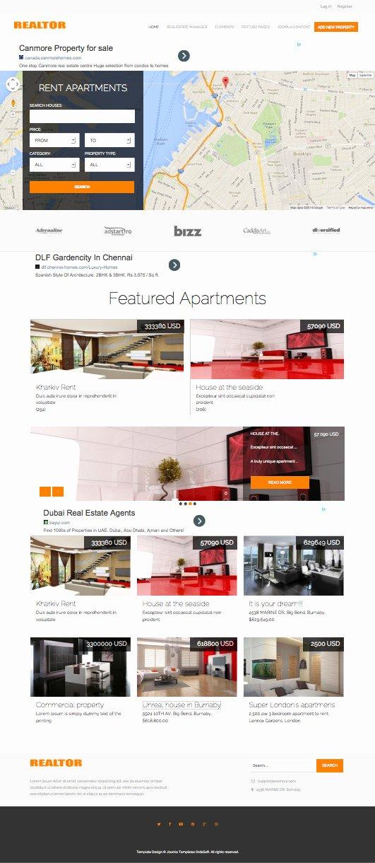 Joomla Real Estate Template Luxury Os Realtor Responsive Joomla Real Estate Dealer Template