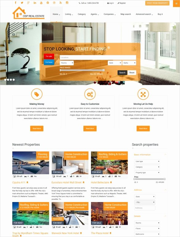 Joomla Real Estate Template New 29 Real Estate Joomla themes & Templates