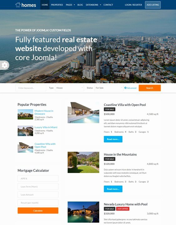 Joomla Real Estate Template Unique 5 Of the Best Real Estate Joomla Templates – Down