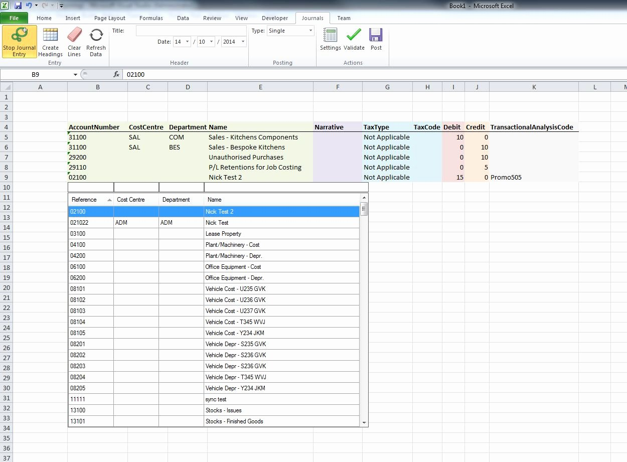 Journal Entry Template Excel Fresh Excel Journal Entry Module