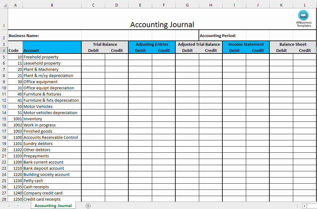 Journal Entry Template Excel Inspirational Free Accounting Journal Excel Template